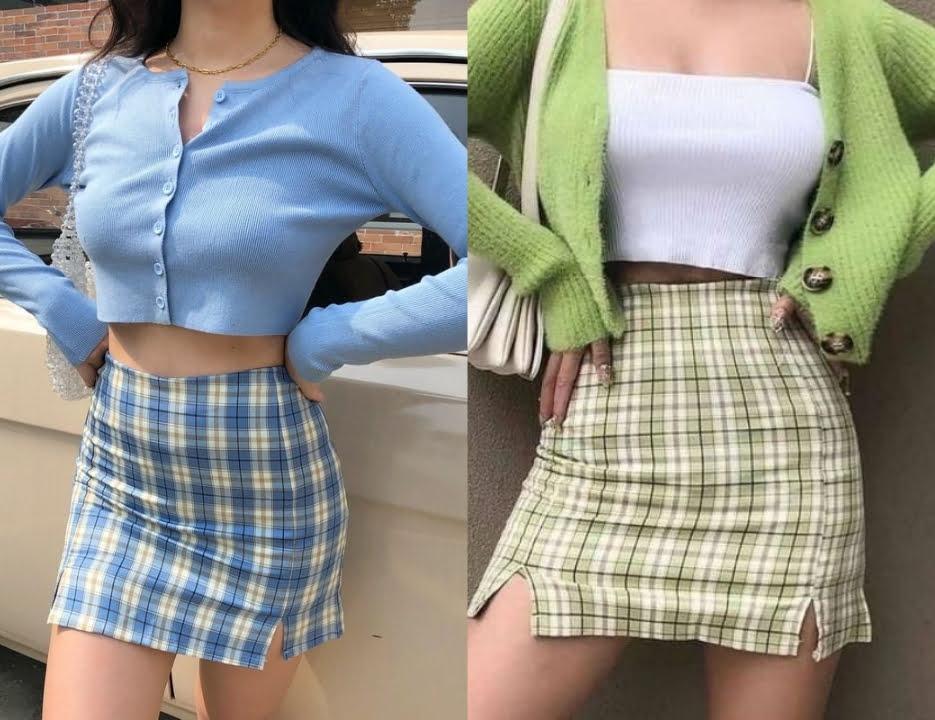 Quần áo phong cách soft girl outfits đơn sắc