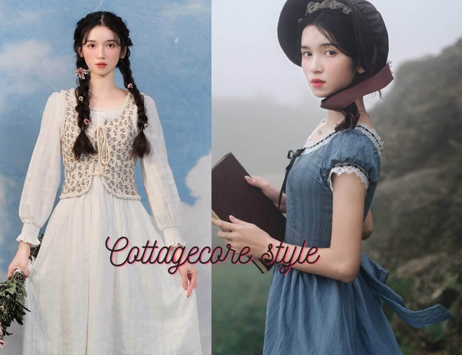 Cottagecore aesthetic outfits