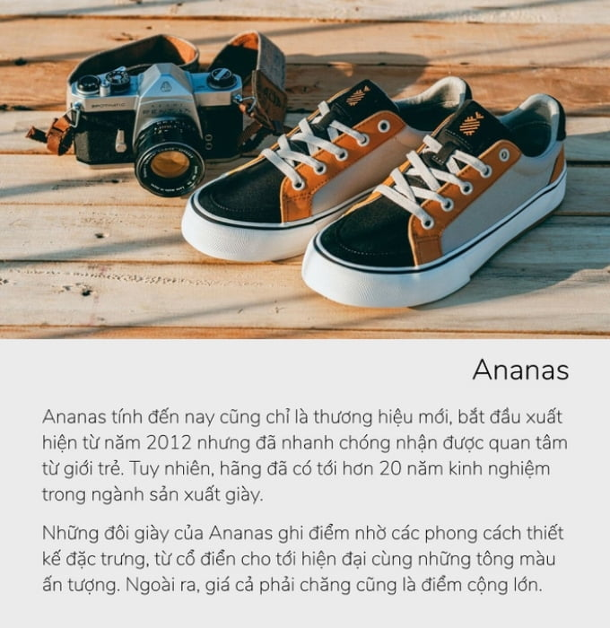 Giày local brand việt nam Ananas