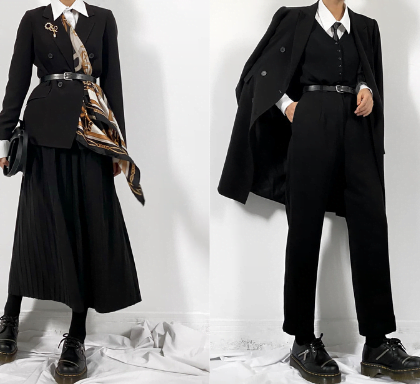 Sartorial womenwear style
